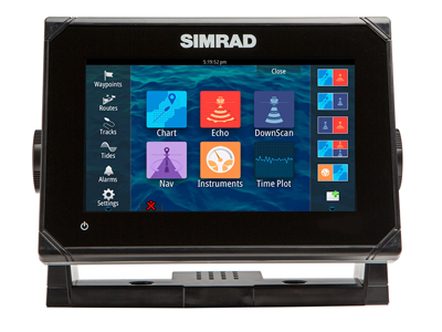 Simrad GO7 Plotter/Sounder inc NZ chart and transducer