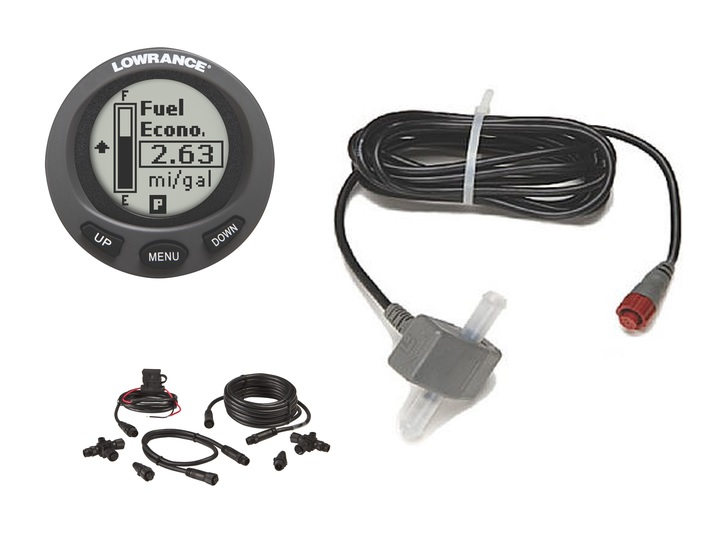 Lowrance LMS-200 fuel flow system
