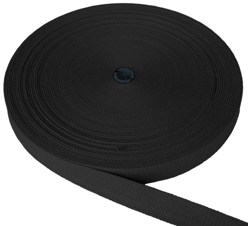 "1 1/2"" (38mm) Black Webbing"